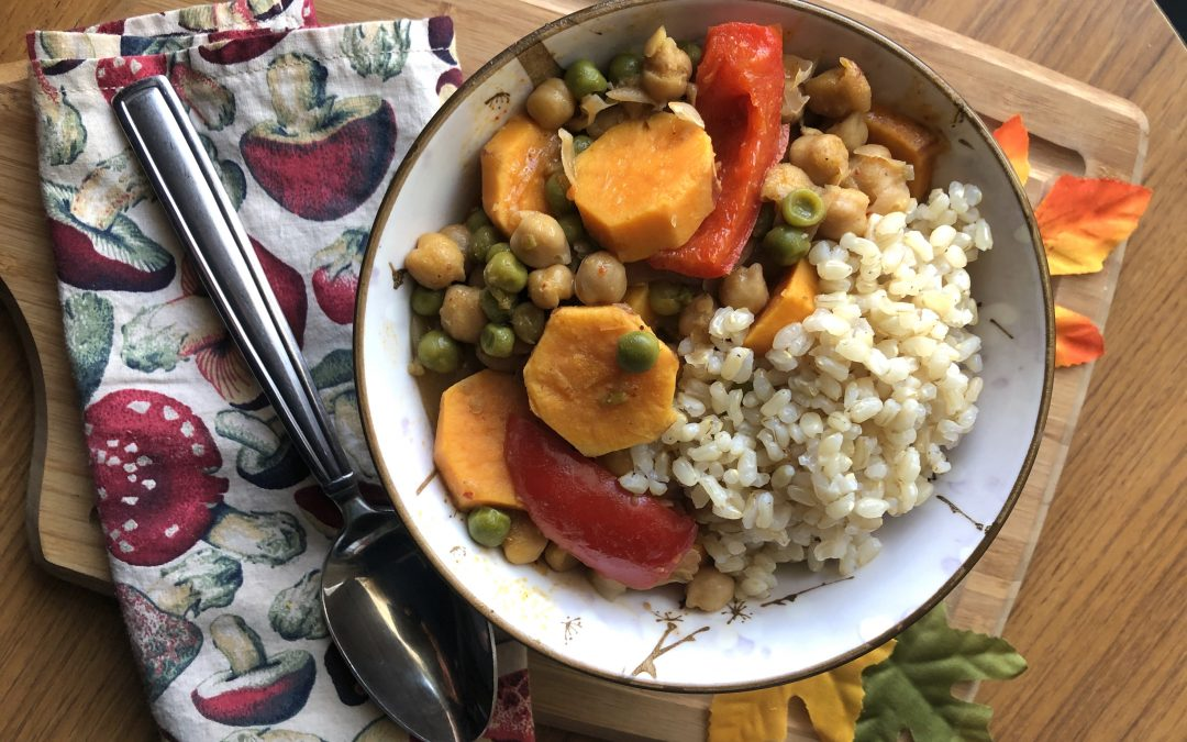 Sweet Potato and Chickpea Vegan Curry ┃Vegan Meal Prep Recipe