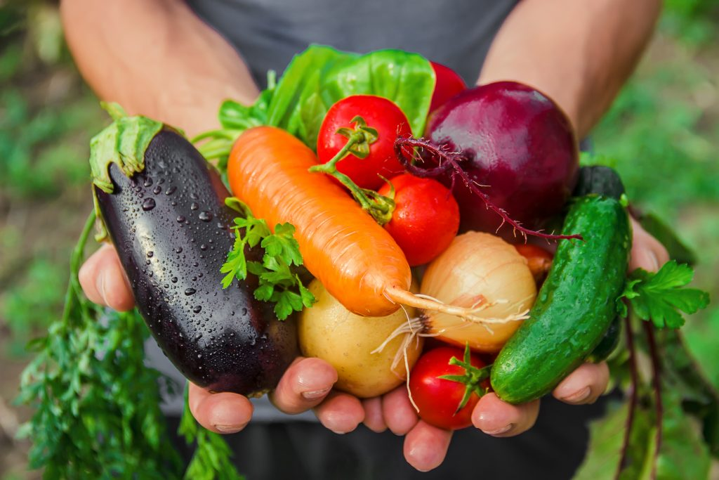 Vegans love their veggies!