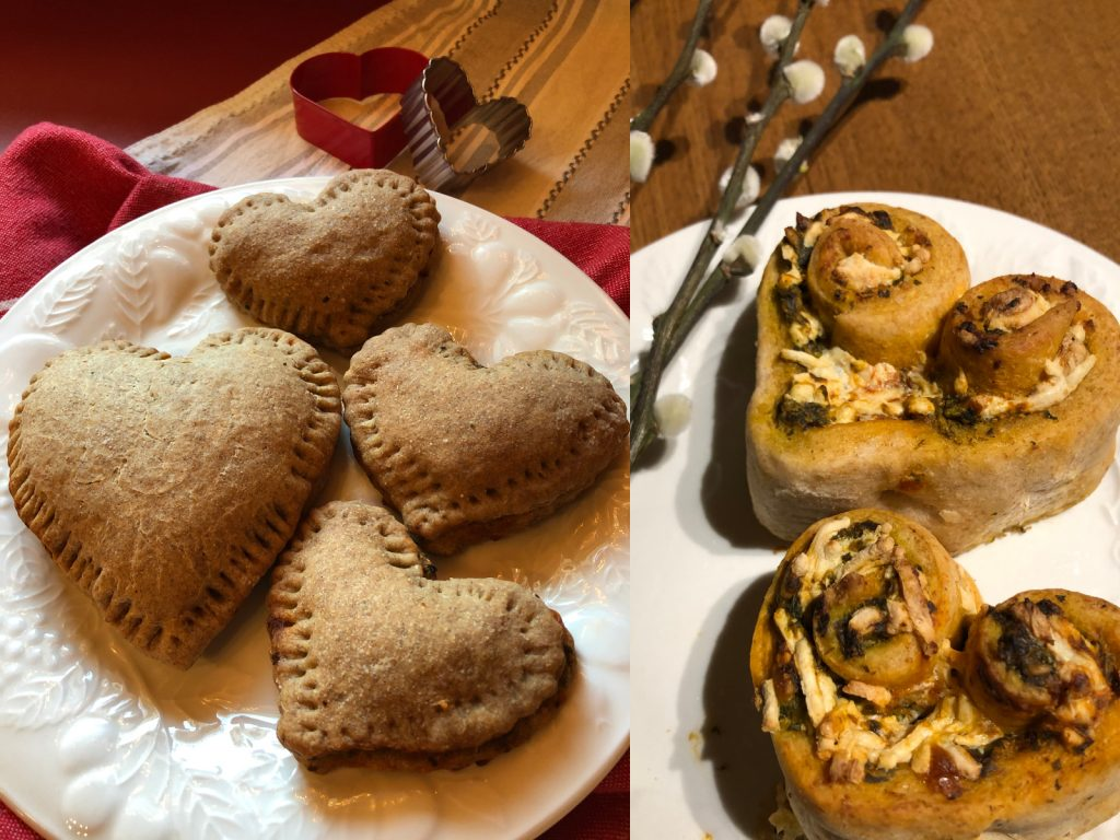 Sweetheart Calzones and I Love You Pizza Rolls make great Valentine's treats without sugar