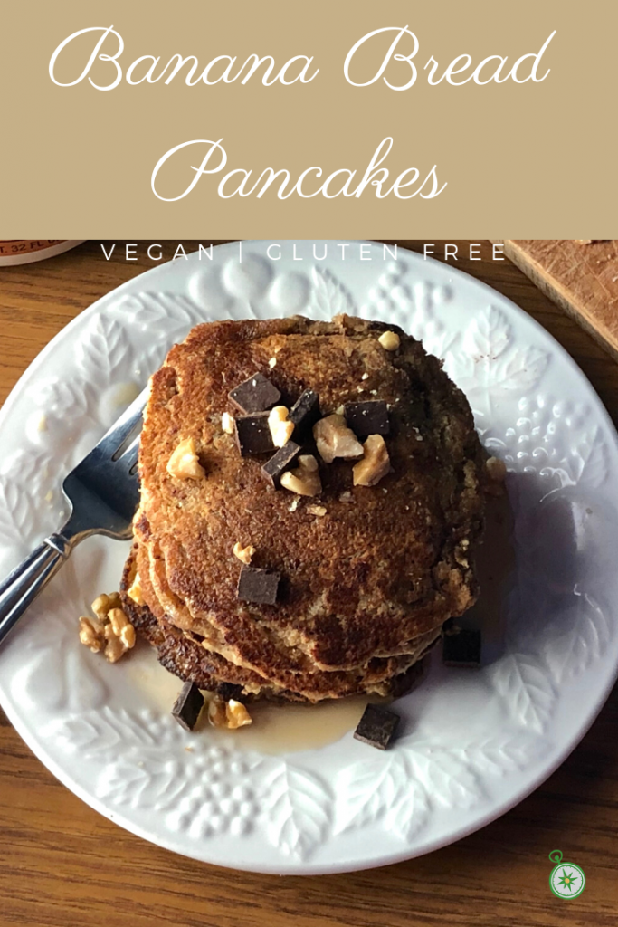 Easy vegan banana bread pancakes