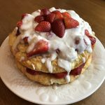 Vegan Strawberry Shortcake with Coconut whipped topping
