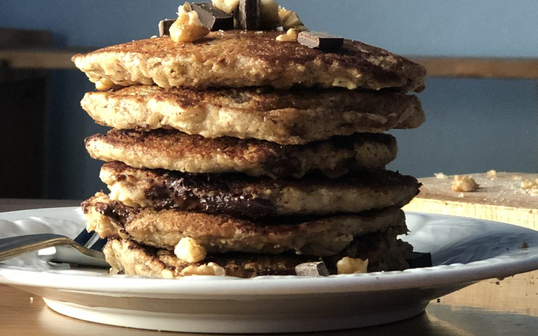Easy Banana Bread Pancakes | Vegan, Gluten Free