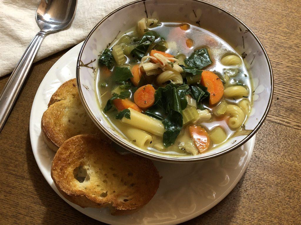 King Oyster Mushroom Chick-un Noodle Soup