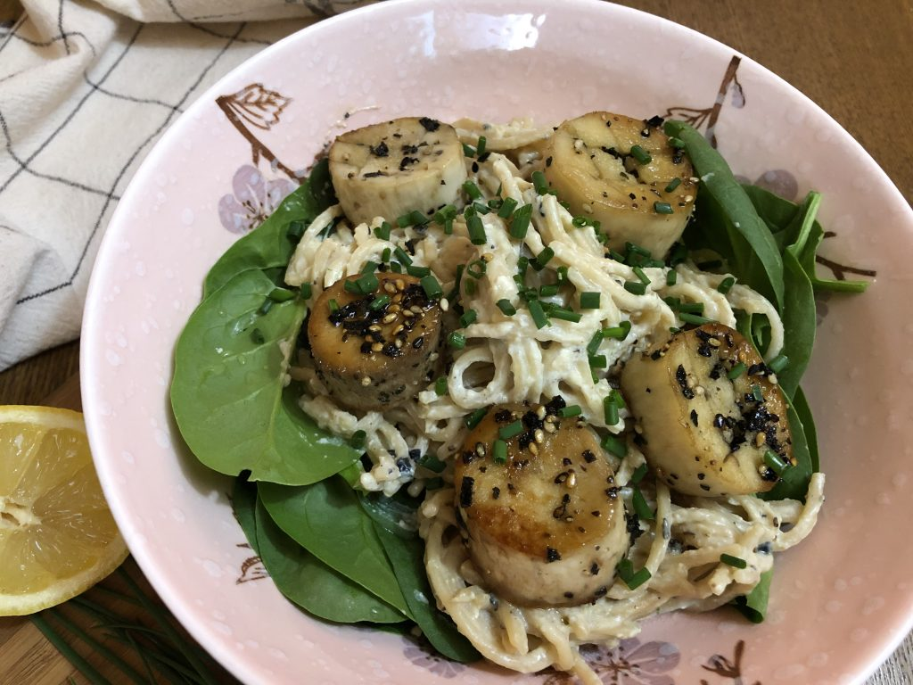 Vegan Scallops made with King Oyster Mushrooms