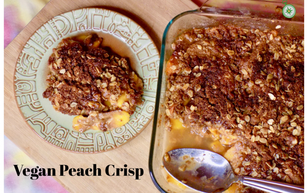 Vegan Peach Crisp with Oat Streusel Topping
