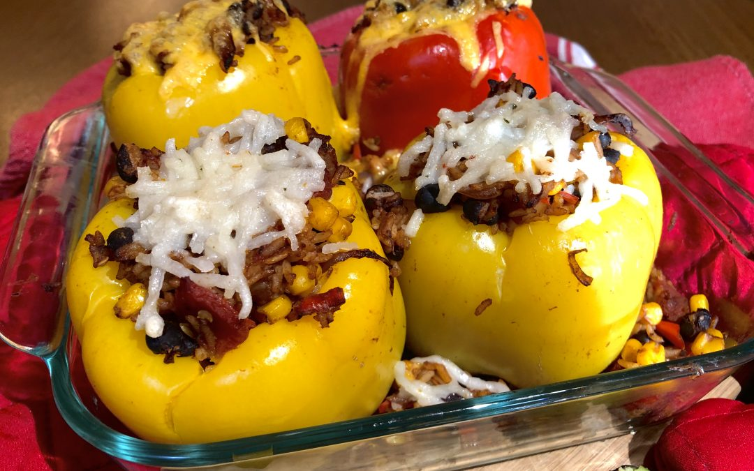 Mexican Stuffed Bell Peppers – Vegan, Gluten-free