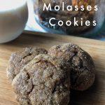 Vegan Molasses Cookie recipe pin