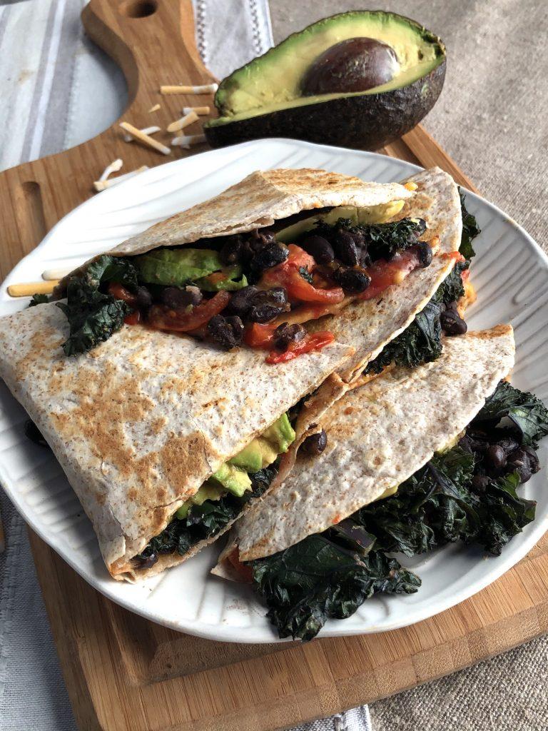 healthy vegan breakfast quesadillas