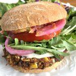 Vegan and Gluten-Free Black Bean veggie burger